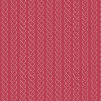 Provencale - Cable Stripe on Cranberry by International Qlt Study Center &
