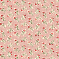 Andover - Little Sweetheart - Summer Field - Blush - Flowers on Pink Mesh Background by Laundry Basket Quilts