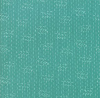 Le Pavot - Pond - Crosshatch - Turquoise by Sandy Gervais