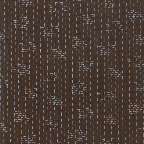 Le Pavot - Earth - Crosshatch - Brown by Sandy Gervais
