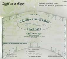 Quilt in a Day - Scallops Vines & Waves Template #2019