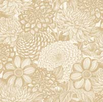 "Wilmington Prints - Essential - 108"" Backing - Floral Toile - Ivory - Packed Floral Tone on Tone"