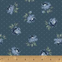 Windham - Camilla - Peonies on dot - Indigo