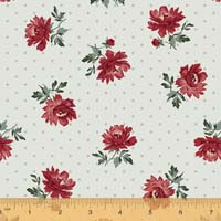 Windham - Camilla - Peonies on dot - Ivory