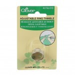 Adjustable Ring Thimble with Metal Plate-Clover