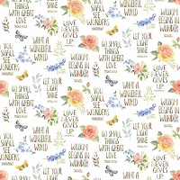 Garden Inspirations - Inspirations and flowers multi on white by Jane Alison