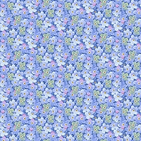 Garden Inspirations - Packed little flowers in blue  by Jane Alison