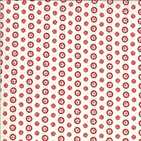 Moda - Roselyn - Circle Dot - Ivory Red - rows of red and white flowers on cream by Minick and Simpson.