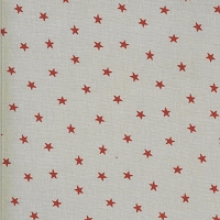 Moda - Roselyn - Scattered Star -Taupe - red stars on taupe by Minick and Simpson