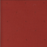 Moda - Roselyn - Stripe - Warm Red - narrow dark red stripes with scattered sprigs by Minick and Simpson.