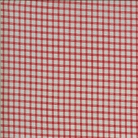Moda - Roselyn - Gingham - Taupe Red - red gingham on taupe by Minick and Simpson