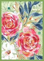 Moody Bloom - Dashing darling PANEL 7/8yd  by Create Joy Project