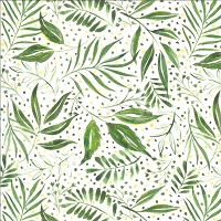 Moody Bloom - Breezy Botanical- Digital jungle light green by Create Joy Project