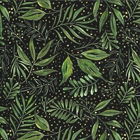 Moody Bloom - Breezy Botanical - Digital Jungle black by Create Joy Project