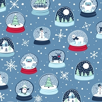 Twinkle Twinkle - Snow Globes - Dark Blue by Alicia Dujets