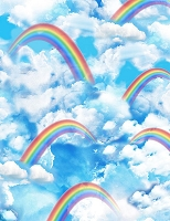 Over the Rainbow - Rainbow, clouds in the sky