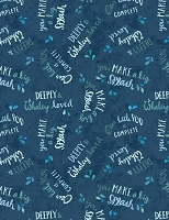 Whaley Loved - Word Toss  - Navy