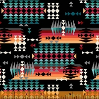 Windham - Spirit Trail - Mountain pass - black - southwest design in rich earthy colors